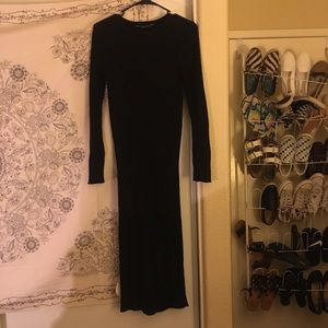 Lara Knit Black Body Con Knit Dress